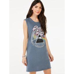 Scoop Women's Pink Floyd Sleeveless T-Shirt Dress | Walmart (US)