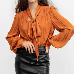 Florence Red Tie-Up Blouse   J.ING