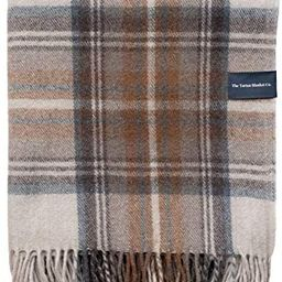 "The Tartan Blanket Co. Recycled Wool Knee Blanket Stewart Natural Dress Tartan 28"" x 65"" | Amazon (US)"