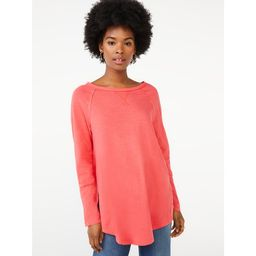 Scoop Women's Semi Sheer Snap Sleeve Tunic | Walmart (US)