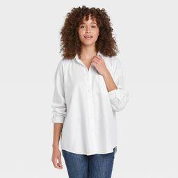 Women's Raglan Long Sleeve Button-Down Shirt - Universal Thread™   Target