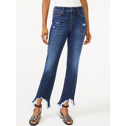 Scoop Women's Crop Flare Jeans with Sharkbite Hem | Walmart (US)