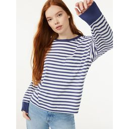 Free Assembly Women's Pocket T-Shirt with Long Sleeves | Walmart (US)