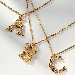Alex Monroe Floral Monogram Pendant Necklace | Anthropologie (US)