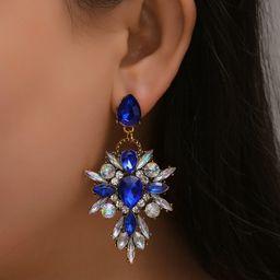 1pair Crystal Drop Earrings | SHEIN