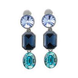 Oscar de la Renta Crystal Stone Clip Earrings | Bergdorf Goodman