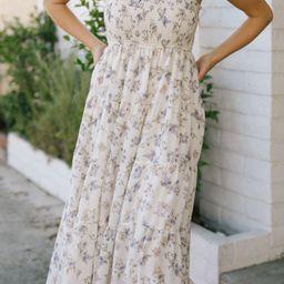 Christina Smocked Maxi Dress   Morning Lavender