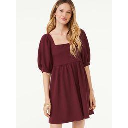 Scoop Women's Square Neck Babydoll Dress | Walmart (US)