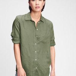 Linen Boyfriend Shirt | Gap (US)
