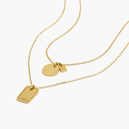 Etched Coin Necklace Set | Madewell