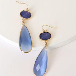 Got a Lotta Glam Blue Stone Drop Earrings | Lulus (US)
