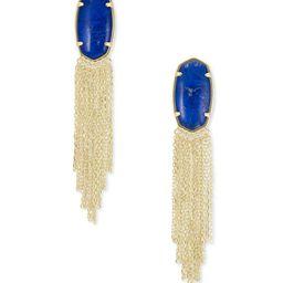 Deanna Gold Drop Earrings in Cobalt Howlite | Kendra Scott