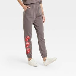 Women's Rolling Stones Logo Graphic Jogger Pants - Heather Gray   Target