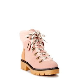 Time and Tru Women's Cozy Hiker Boots, Wide Width Available | Walmart (US)