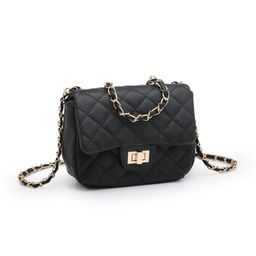 POPPY Classic Quilted Crossbady Bag Vagan Leather Mini Shoulder Bag with Goldtone Chain Strap | Walmart (US)