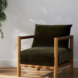 Amber Lewis for Anthropologie Velvet Caillen Accent Chair   Anthropologie (US)