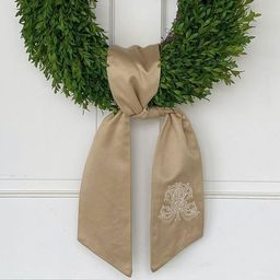 Gold Monogrammed Wreath Sash | Fig and Dove