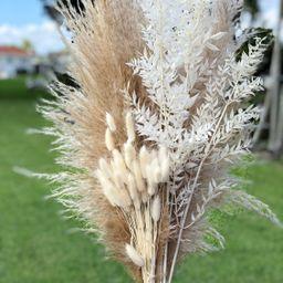 Pampas Grass, Bunny Tails & Italian White Ruscus Bundle | Home Decor | Pampas Grass Bouquet | Fal... | Etsy (US)