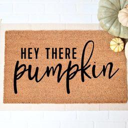 Hey There Pumpkin Doormat, Fall Welcome Mat, Fall Decor, Funny Doormat, Funny Welcome Mat, Hallow... | Etsy (US)
