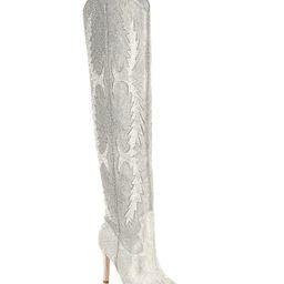 KatyannaTwo Rhinestone Embellished Over-the-Knee Western Dress Boots   Dillards