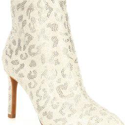 AnninaTwo Leopard Sparkle Rhinestone Embellished Dress Booties   Dillards