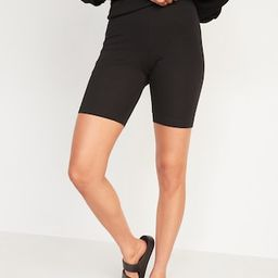 High-Waisted Long Biker Shorts for Women -- 9-inch inseam | Old Navy (US)