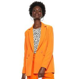 Women's Nine West Double Breasted Blazer, Size: 4, Med Orange | Kohl's