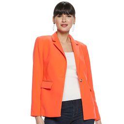 Women's Nine West The Bold Blazer, Size: 12, Med Orange | Kohl's