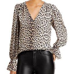 AQUA Long Sleeve V-Neck Top - 100% Exclusive | Bloomingdale's (US)