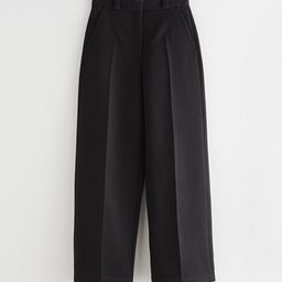 Wide Press Crease Trousers   & Other Stories