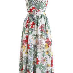 Tropical Garden Halter Neck Maxi Dress | Chicwish