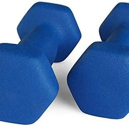 Portzon Set of 2 Neoprene Dumbbell Hand Weights, Anti-Slip, Anti-roll, Hex Shape Colorful | Amazon (US)