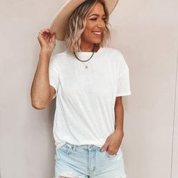 Lazy Day Basic T Shirt | She Is Boutique