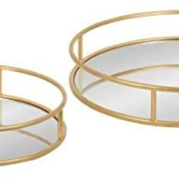 Amazon.com: Kate and Laurel Felicia Modern Glam Metal Nesting Trays   Decorative Round Shape with...   Amazon (US)