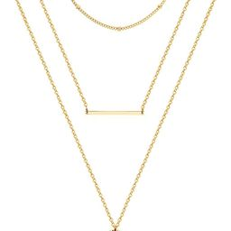 Ldurian Dainty Circle Karma Choker Necklace 14K Real Gold Plated Delicate Circle Necklace for Wom...   Amazon (US)