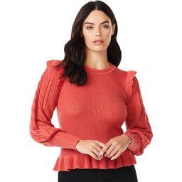 Sofia Jeans by Sofia Vergara - Sofia Jeans by Sofia Vergara Women's Pointelle Sleeve Sweater - Wa... | Walmart (US)