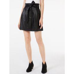 Scoop - Scoop Women's Short Faux Leather Flare Skirt - Walmart.com | Walmart (US)