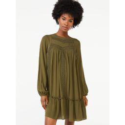 Scoop - Scoop Women's Blouson Sleeve Dress - Walmart.com | Walmart (US)