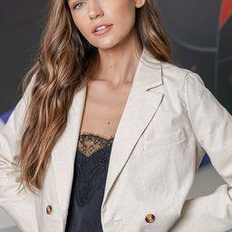 Sweet Ambition Beige Cropped Blazer   Lulus (US)