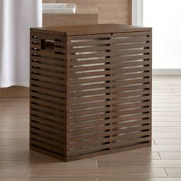 Dixon Bamboo Hamper with Liner + Reviews | Crate and Barrel | Crate & Barrel