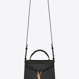 CASSANDRA Mini top handle bag in crocodile-embossed shiny leather | Saint Laurent | YSL.com | Saint Laurent