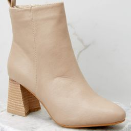 Modern Classic Taupe Ankle Booties | Red Dress