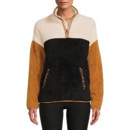 Time and Tru - Time And Tru Women's Faux Sherpa Pullover - Walmart.com | Walmart (US)