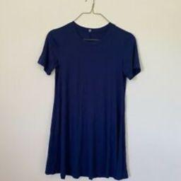 Amazon Fashion Navy Shirt Dress Size Large  | eBay | eBay US