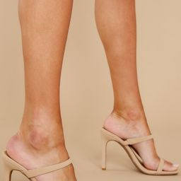 Always The Lead Nude High Heel Sandals   Red Dress