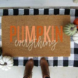 Pumpkin everything doormat customized doormat fall doormat   Etsy   Etsy (US)