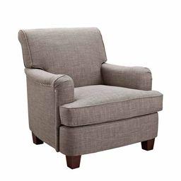 Better Homes & Gardens Grayson Upholstered Club Accent Chair, Gray - Walmart.com | Walmart (US)