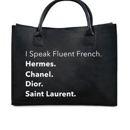 MODERN VEGAN TOTE - Fluent French (Black)   Los Angeles Trading Co