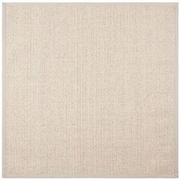 SAFAVIEH Natural Fiber Margret Sisal/ Wool Rug - 6' x 6' Square - Light Grey | Overstock