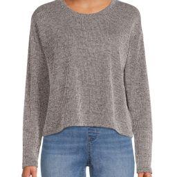 Time and Tru - Time and Tru Women's Coordinating Long Sleeve Sweater Top - Walmart.com   Walmart (US)